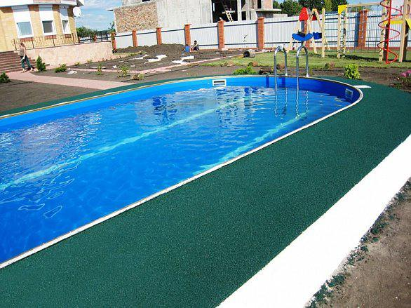 Резиновое напольное покрытие для оборудования бассейнов